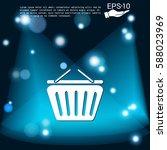 shopping cart icon. vextor...   Shutterstock .eps vector #588023969