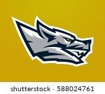 logo  mascot of aggressive wolf ...   Shutterstock .eps vector #588024761