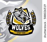 colourful emblem  logo  sticker ...   Shutterstock .eps vector #588026519