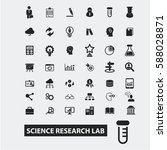 science research lab icons | Shutterstock .eps vector #588028871