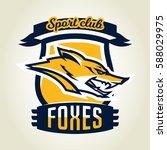 colorful logo  emblem  mascot ... | Shutterstock .eps vector #588029975