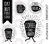ok  but first coffee.  coffee... | Shutterstock .eps vector #588030167