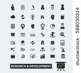 research development icons  | Shutterstock .eps vector #588030314