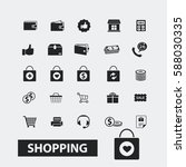 shopping icons | Shutterstock .eps vector #588030335