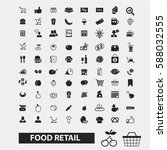 food retail icons  | Shutterstock .eps vector #588032555