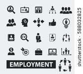 employment icons  | Shutterstock .eps vector #588032825