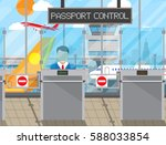 border control counter concept  ... | Shutterstock .eps vector #588033854