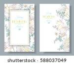 vector spring flower banners... | Shutterstock .eps vector #588037049