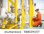 mechanical engineer inspector...   Shutterstock . vector #588039257