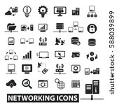 networking icons | Shutterstock .eps vector #588039899