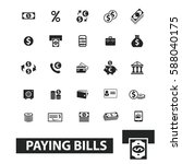 paying bills icons  | Shutterstock .eps vector #588040175