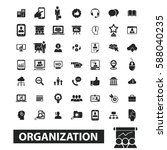 organization icons  | Shutterstock .eps vector #588040235