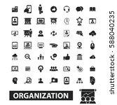 organization icons  | Shutterstock .eps vector #588040235
