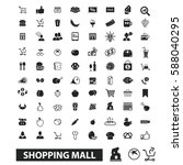 shopping mall icons | Shutterstock .eps vector #588040295