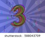 3 number idea pattern | Shutterstock .eps vector #588043709