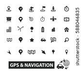 gps navigation icons | Shutterstock .eps vector #588046835