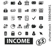income icons  | Shutterstock .eps vector #588046841