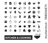 kitchen cooking icons  | Shutterstock .eps vector #588046874