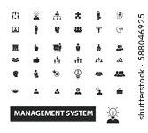management icons | Shutterstock .eps vector #588046925