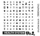 health system icons  | Shutterstock .eps vector #588046961