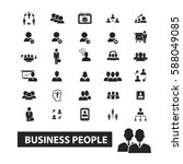 business people icons | Shutterstock .eps vector #588049085