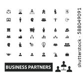 business partners icons | Shutterstock .eps vector #588049091