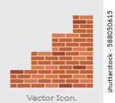 brick stair icon isolated sign... | Shutterstock .eps vector #588050615