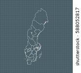 map of sweden | Shutterstock .eps vector #588052817