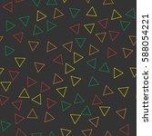 black and white retro pattern... | Shutterstock .eps vector #588054221