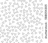 black and white retro pattern... | Shutterstock .eps vector #588054305