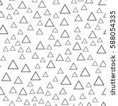 black and white retro pattern... | Shutterstock .eps vector #588054335