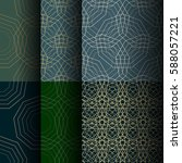 set of abstract seamless... | Shutterstock .eps vector #588057221