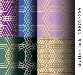 set of abstract seamless... | Shutterstock .eps vector #588057239