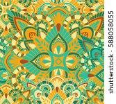 mandala vector ornament.... | Shutterstock .eps vector #588058055