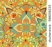 mandala vector ornament.... | Shutterstock .eps vector #588058235