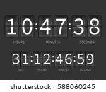 flip countdown timer  hourly... | Shutterstock .eps vector #588060245