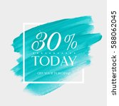 sale today 30  off sign over... | Shutterstock .eps vector #588062045