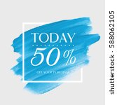 sale today 50  off sign over... | Shutterstock .eps vector #588062105