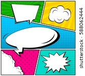 abstract creative concept... | Shutterstock .eps vector #588062444