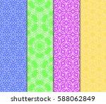 set of ornamental flower design.... | Shutterstock .eps vector #588062849