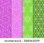 set of geometric seamless... | Shutterstock .eps vector #588063059