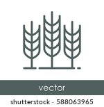 wheat icon | Shutterstock .eps vector #588063965