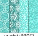 set of romantic geometric... | Shutterstock .eps vector #588065279