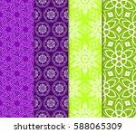 seamless ornamental pattern set.... | Shutterstock .eps vector #588065309