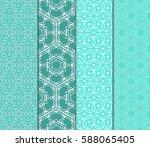 set of romantic geometric... | Shutterstock .eps vector #588065405