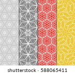 set of romantic geometric... | Shutterstock .eps vector #588065411
