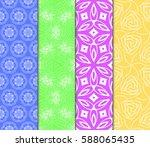 set of decorative geometric... | Shutterstock .eps vector #588065435
