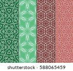 set of romantic geometric... | Shutterstock .eps vector #588065459
