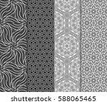 set of romantic geometric... | Shutterstock .eps vector #588065465