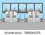 interior office design with... | Shutterstock .eps vector #588066155